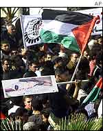 Gaza protest against blockade of Arafat HQ
