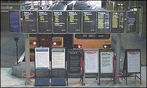 Strike information at York Station