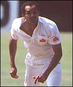 Omar Henry bowling for South Africa