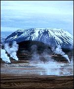 Hot geysers in Iceland
