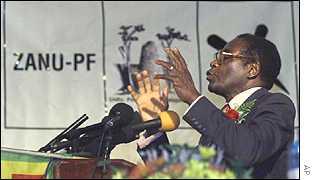 President Mugabe at a Zanu-PF conference