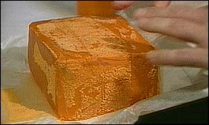 A block of Semtex