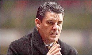 John Gregory watches in anguish as Villa are knocked out of the FA Cup by Manchester United