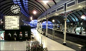 Newcastle station at morning rush hour on Thursday, 24 January, 2002