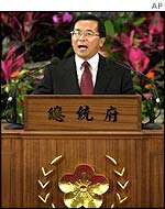 President Shui-bian announces a new prime minister on 21 January