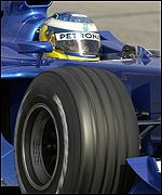 The new Sauber C21 in action