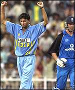 Agit Agarkar has Ben Hollioake caught