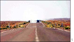Approach road to Woomera