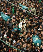 Some 15,000 Palestinians attended the funeral of the four men