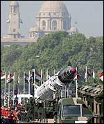 Agni on parade in Delhi