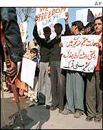 Kashmiris demonstrate in Rawalpindi