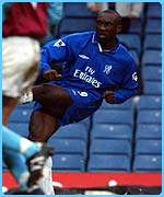 Chelsea's Jimmy Floyd Hasselbaink scores the opening goal
