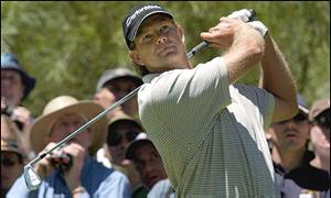 Retief Goosen won by eight shots