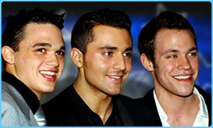 Gareth Gates, Darius Danesh and William Young from Pop Idol
