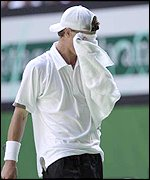 Lleyton Hewitt pictured after his first round exit