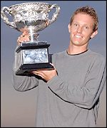 Thomas Johansson with his silverware