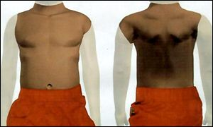 Police graphic of boy's torso