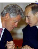 Presidents Clinton and Putin