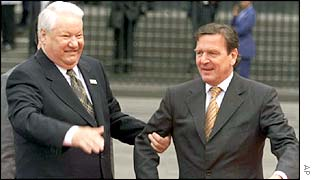 Boris Yeltsin and Gerhard Schroeder
