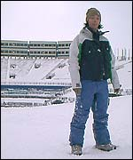 Lesley McKenna at the Winter Olympics venue