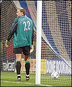 Jaaskelainen picks the ball out of the net