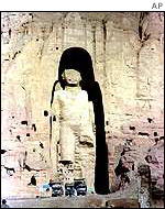 One of the Bamiyan statues before it was destroyed