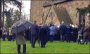 Jeff Astle's funeral in Derbyshire