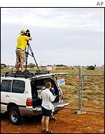 Cameraman at Woomera