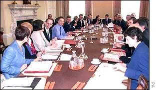 Labour cabinet in session, PA
