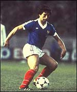 Alain Giresse was one of the great players for France in the 1980s