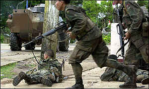 Fighting in Lamitan, June 2001