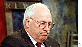 Vice President Dick Cheney responding to Enron questions on US television