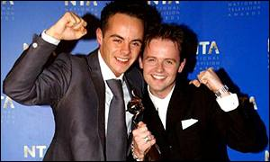 Slap Bang with Ant and Dec was on at prime time