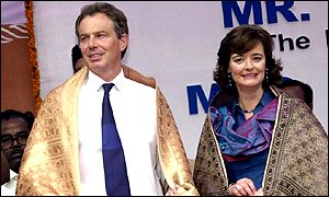 Tony and Cherie Blair in India earlier this year