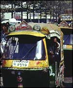 Three wheeler taxi in Dhaka