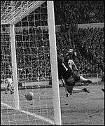 England's third goal in the 1966 final was contested