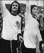 Gerd Muller (right) was a goalscoring legend for Germany