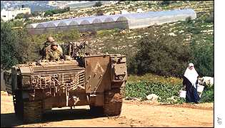 Israeli tank on the West Bank