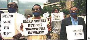 Journalist protest
