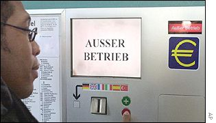 A euro vending machine in Germany