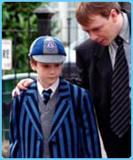 EastEnders' Steven doesn't look too chuffed with his uniform