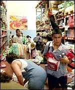 Saqueos a los supermercados argentinos en diciembre pasado