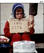 Young child begging