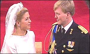 The prince and Maxima exchange vows