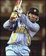 Sourav Ganguly shashes one of four sixes