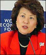 Elaine Chao, secretary of the US Department of Labour