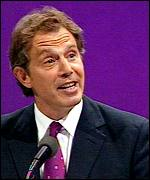 Tony Blair during his Blackpool speech