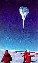 [ image: Releasing an ozone measuring balloon]