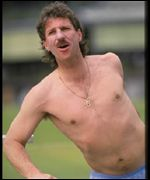 Ian Botham in a similar state of undress