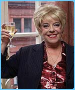 Coronation Street's Bet Lynch, played by Julie Goodyear